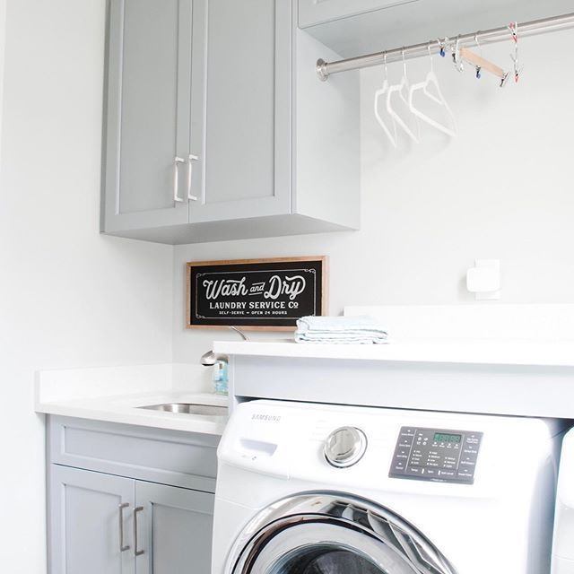 Laundry Room Decor | Laundry Room Cabinets | Sink in Laundry Room | Blue Gray Cabinets | Blue Gray Laundry Room | Gray Laundry Room #graylaundryrooms Laundry Room Decor | Laundry Room Cabinets | Sink in Laundry Room | Blue Gray Cabinets | Blue Gray Laundry Room | Gray Laundry Room #graylaundryrooms