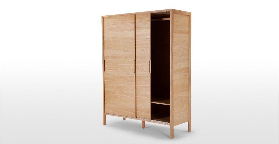Ledger kledingkast met schuifdeuren, eiken Wardrobes, Sliding - Armoire Ikea Porte Coulissante