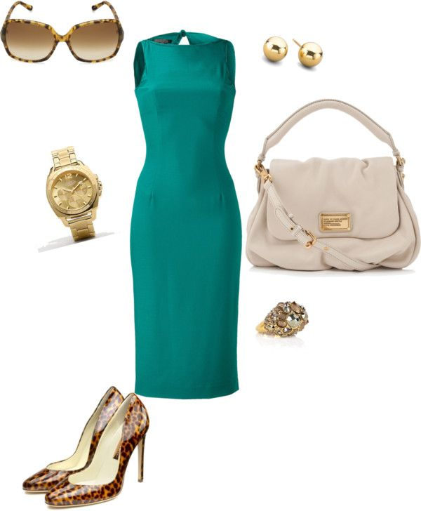Work Sheath Dress, created by christinabrown on Polyvore