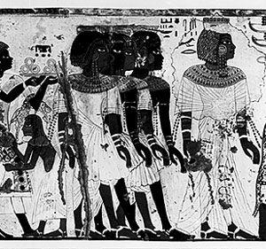 An Egyptian Painting Of Nubians From Modern Ethiopia About 1300