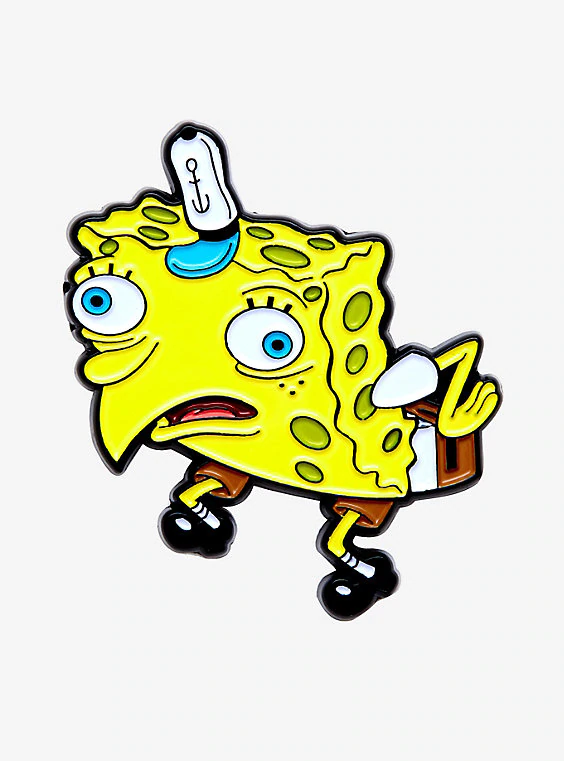 Spongebob Squarepants Chicken Enamel Pin Spongebob Drawings Spongebob Painting Spongebob Wallpaper