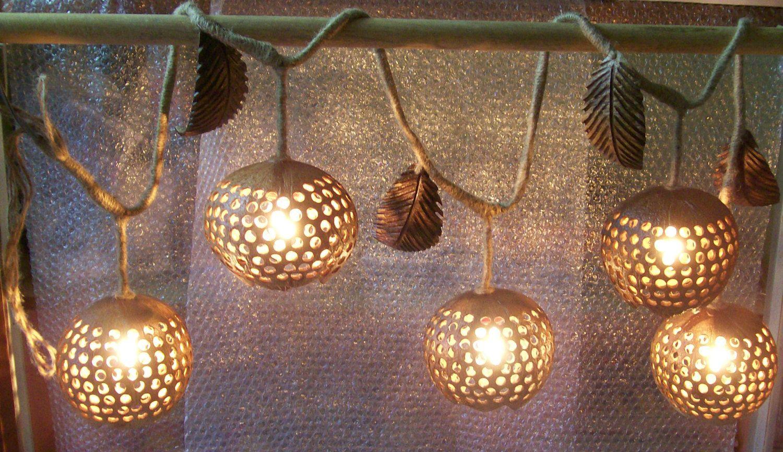 handmade lanterns shell lamp coconut shell hanging lamps lighting