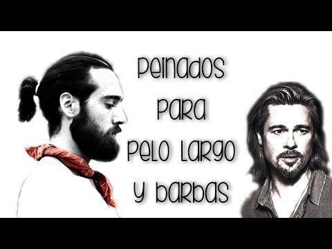 peinados hombre pelo largo rizado y liso barbas y coletas youtube