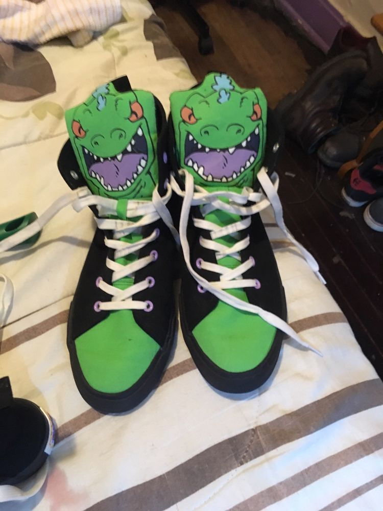 Rugrats Reptar High Tops Size 11  fashion  clothing  shoes  accessories   mensshoes  athleticshoes (ebay link) 1433122af