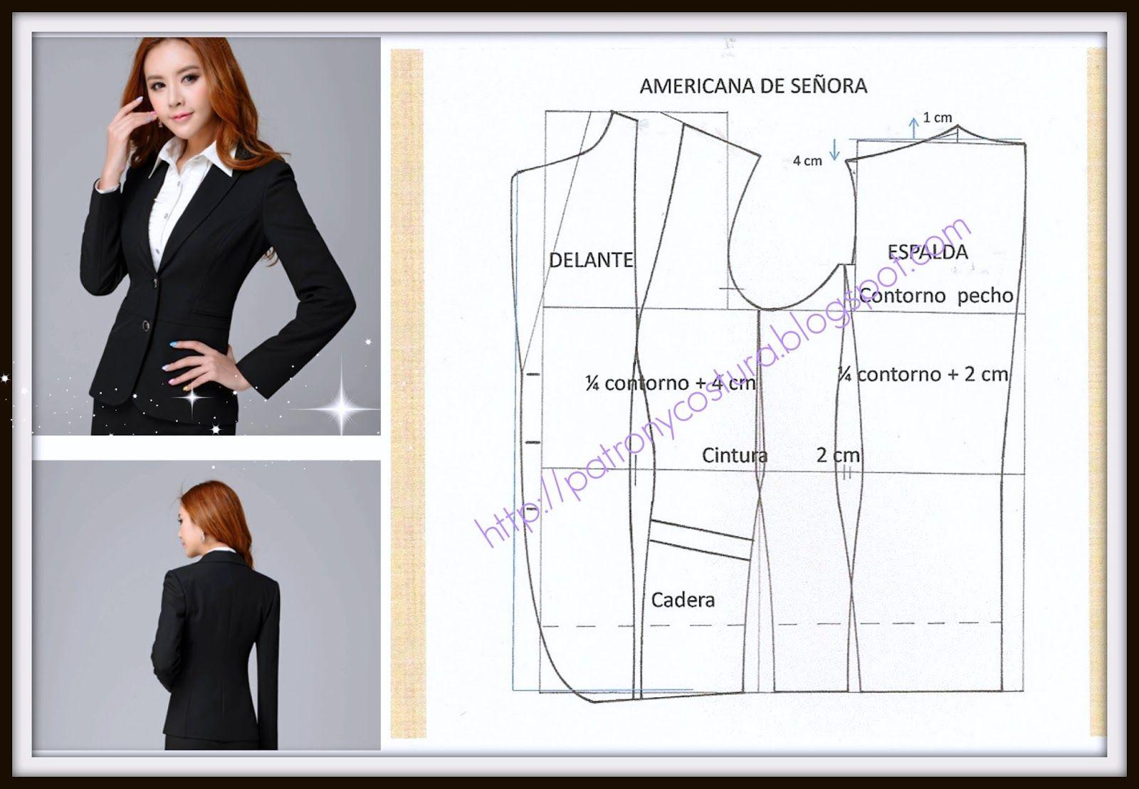 chaqueta americana de señora-tema 72 (PATRÓN Y COSTURA) | Vestidos ...