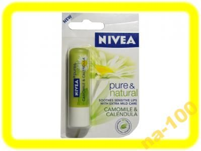 Nivea Pomadka Pure Natural Rumianek Nagietek 6003743832 Oficjalne Archiwum Allegro Pure Products Nivea Calendula