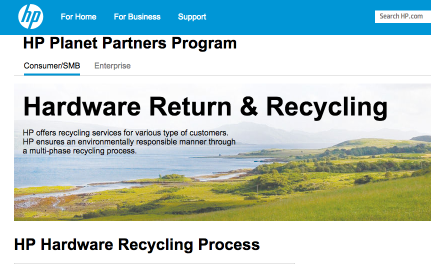 HP India - HP takes back and recycles end-of-life HP branded