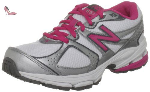 New Balance Kj633wpy, Sports   running fille - blanc - White Silver Pink b08180e1884d