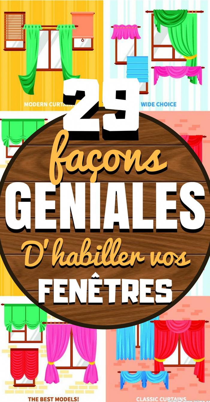 29 Facons Geniales D Habiller Vos Fenetres Le Fait De