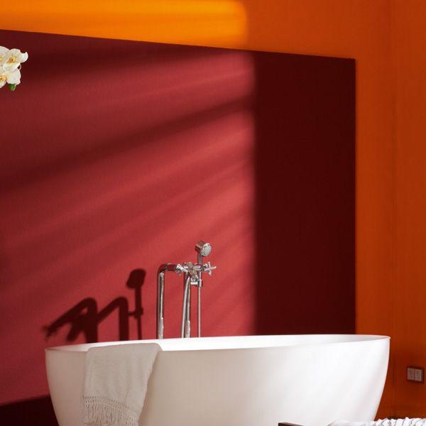 Schöner Wohnen Farbe Küche: Die Abgesetzte Wand In Dunkelrot Ist Ein Beruhigender