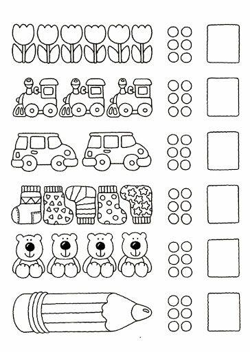 pin von giovanna cancilleri auf i numeri pinterest vorschule arbeitsbl tter und mathe. Black Bedroom Furniture Sets. Home Design Ideas