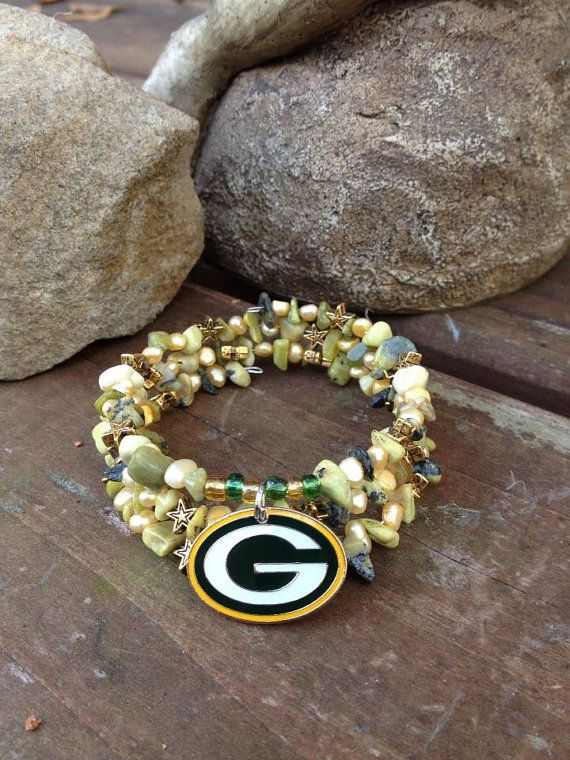 Green Bay Packers Bracelet Three Wrap Memory By Dfinspirations 35 00