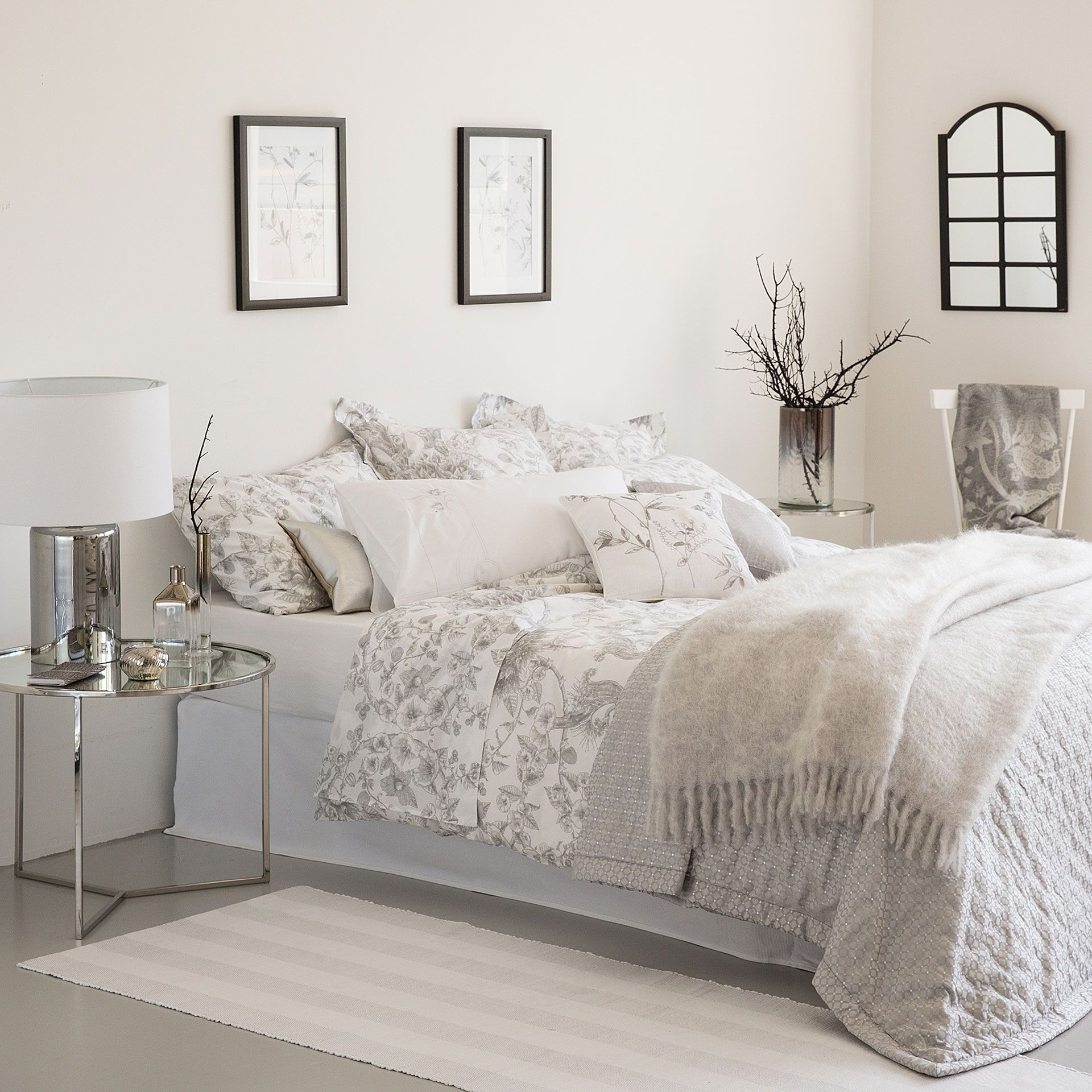 s banas y fundas estampado floral. Black Bedroom Furniture Sets. Home Design Ideas