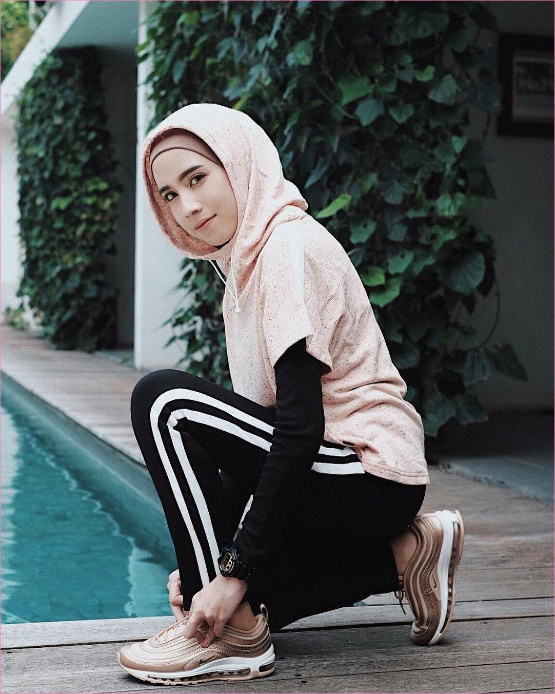 38 Trend Baju Model Hijab Casual Untuk Olahraga Gaya Selebgram Sport Outfits Hijab Casual Casual