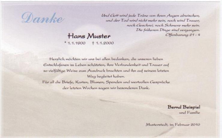 Trauerdanksagungskarte Motiv Lebensweg Drucken Danke Sagen Danksagung Text Trauer