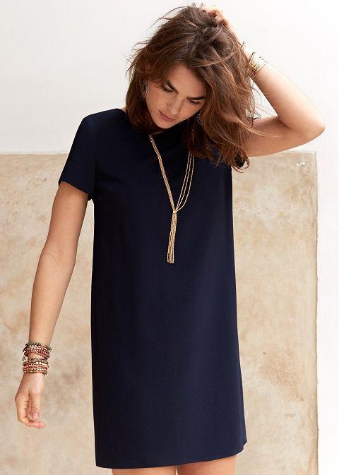 Robe droite à effet chic   Mode   Pinterest   Robe, Mode et Vetements a80be02f3532