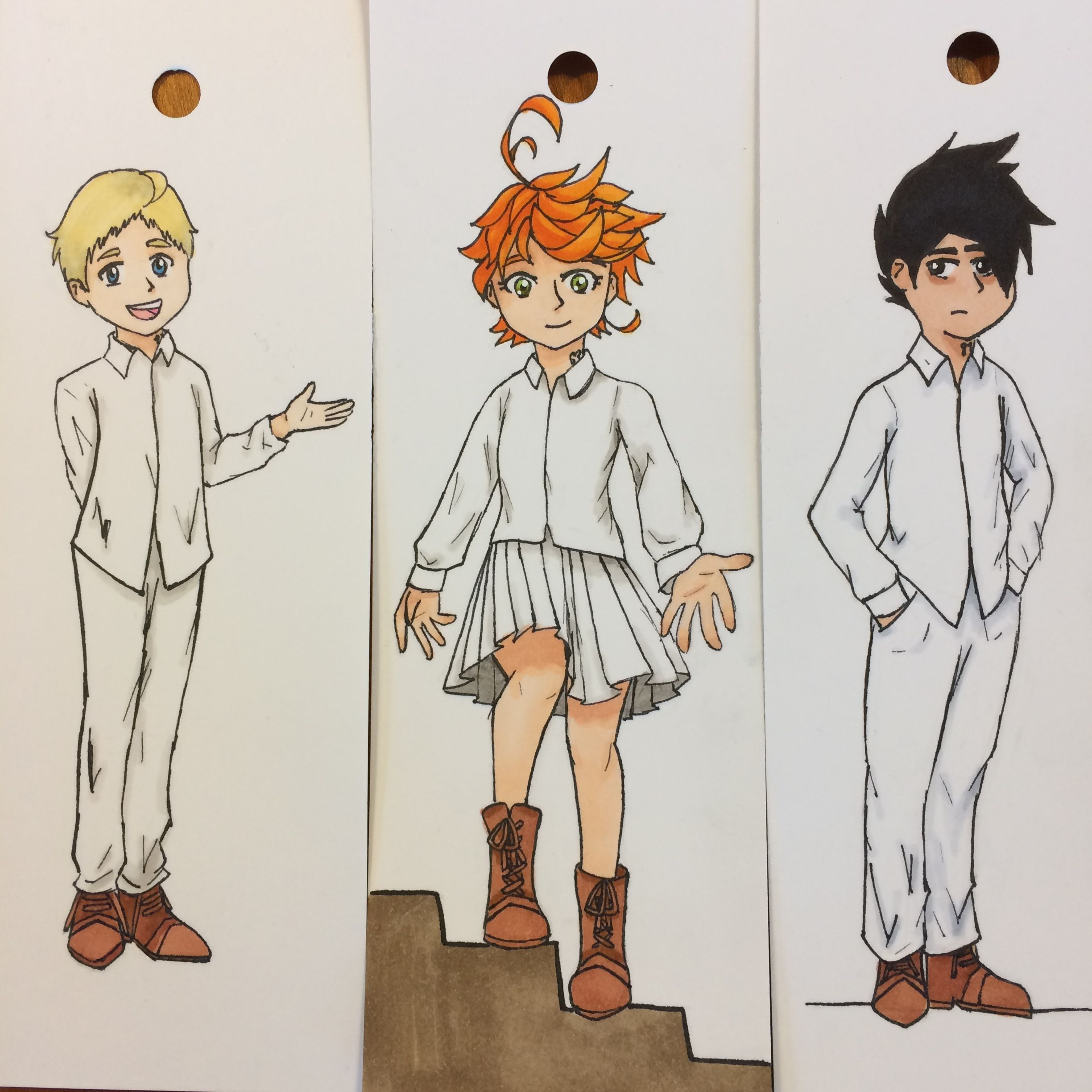 Norman Emma And Ray From The Promised Neverland