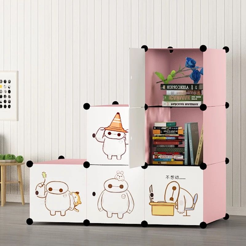 CUTE CARTOON plastic cubbies home portable storage wardrobe & CUTE CARTOON plastic cubbies home portable storage wardrobe ...