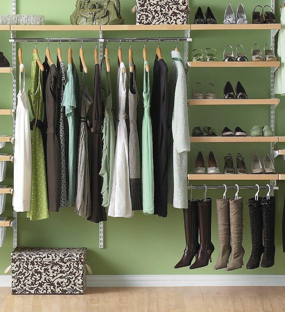 Wood Closet Organizer Systems | ... Wood Elfa Closet System Organizer And  Tall Hanging