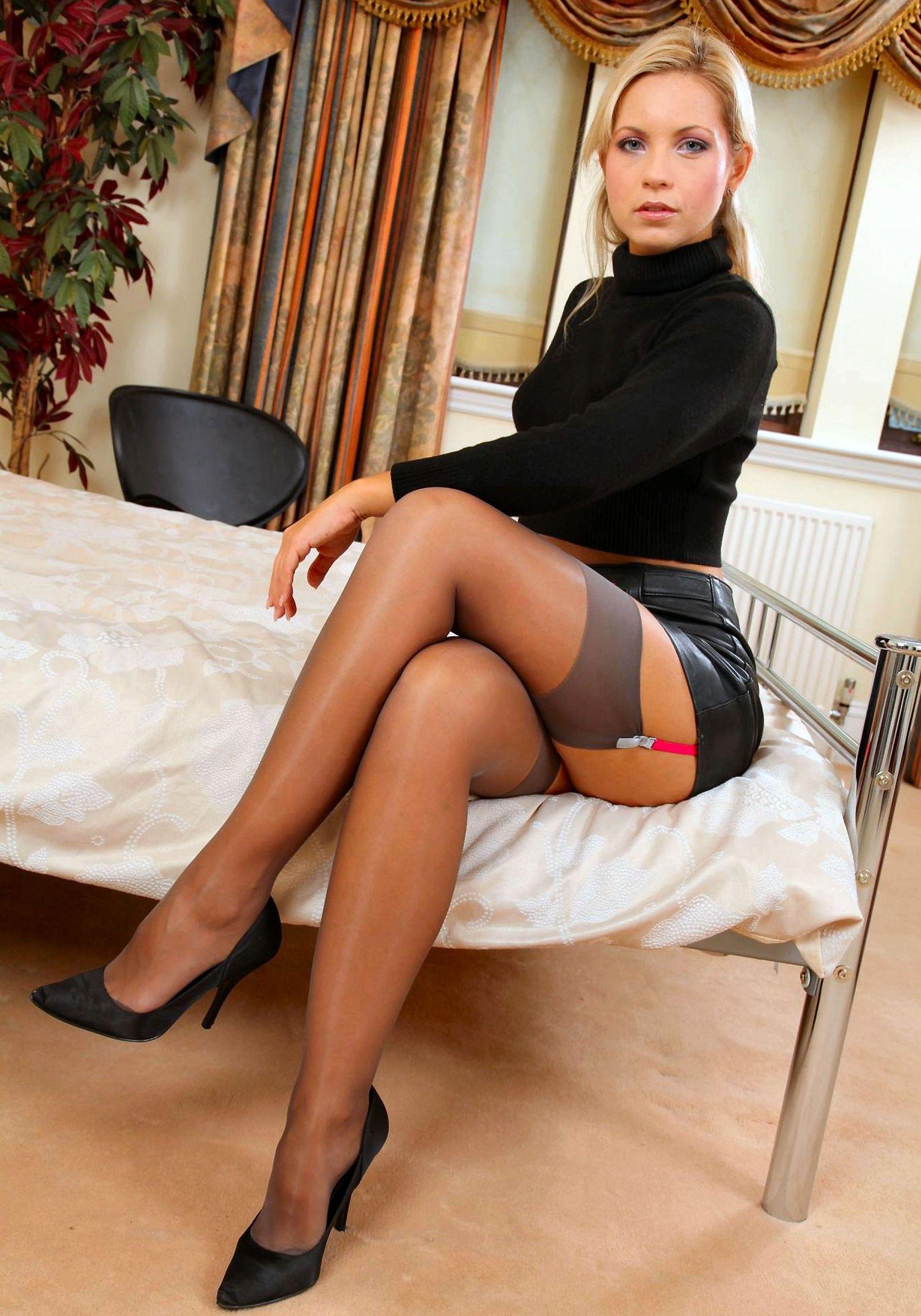 Teen Milf Mature Sexy Dressed Like Slut Pantyhose Stockings Skirt Dress Teasing With Her Legs Heels