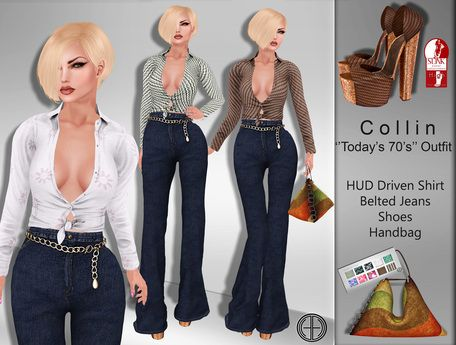 606d69b624e Second Life Marketplace -  hh  Collin   Today s 70 s   Outfit (SLink High  Feet)