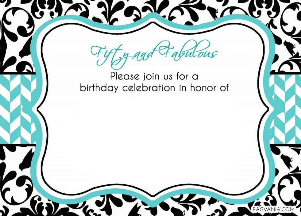 Cool FREE 50th Birthday Party Invitations Wording