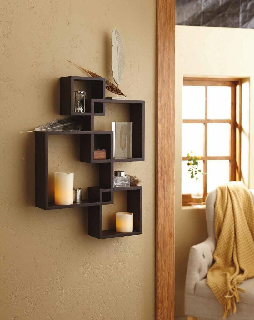 Generic Intersecting Squares Wall Shelf Decorative