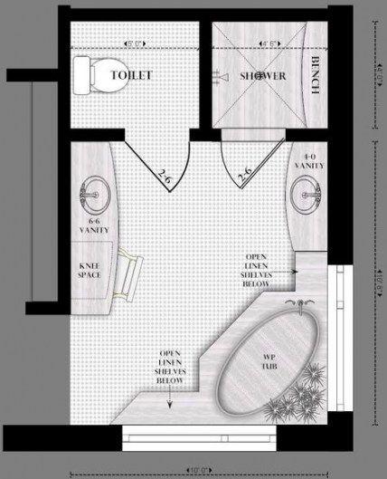 Best Bathroom Floor Plans Layout Master No Tub 30 Ideas Master Bath Layout Master Bedroom Design Layout Bathroom Floor Plans