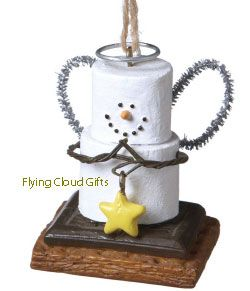 Smores Original Angel With Star Ornament