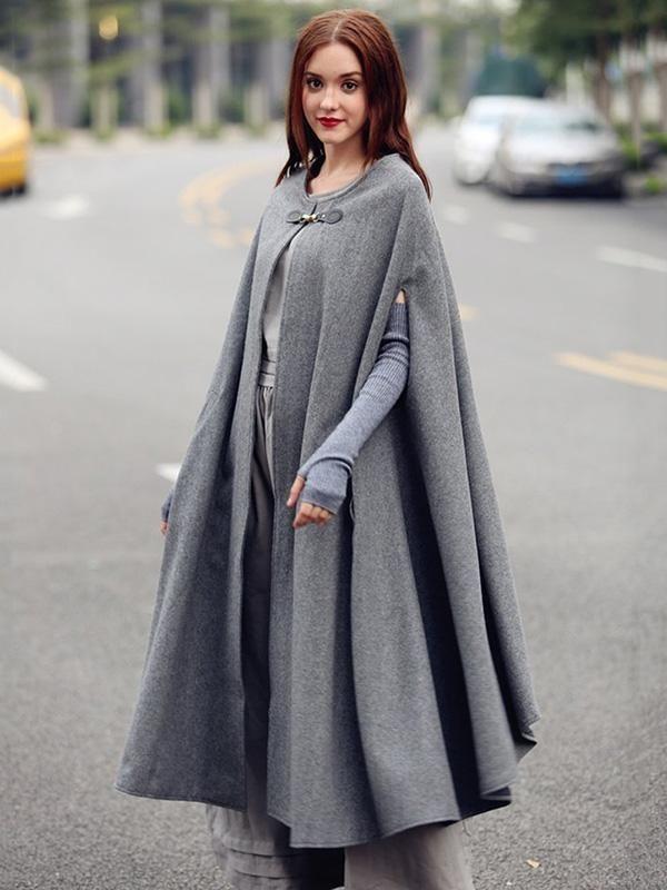 Photo of Graues Maxi Cape Outwear – Ultimative Kollektionen von Kleidern  