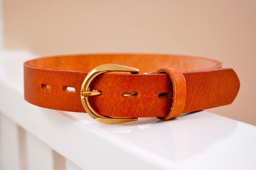 Leather tanned belt for kids by Casa Pampa