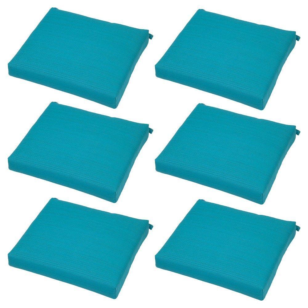Ft. Walton 6-pk. Dining Chair Cushion Turquoise - Threshold