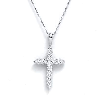 high cross necklace fashion diamond chains