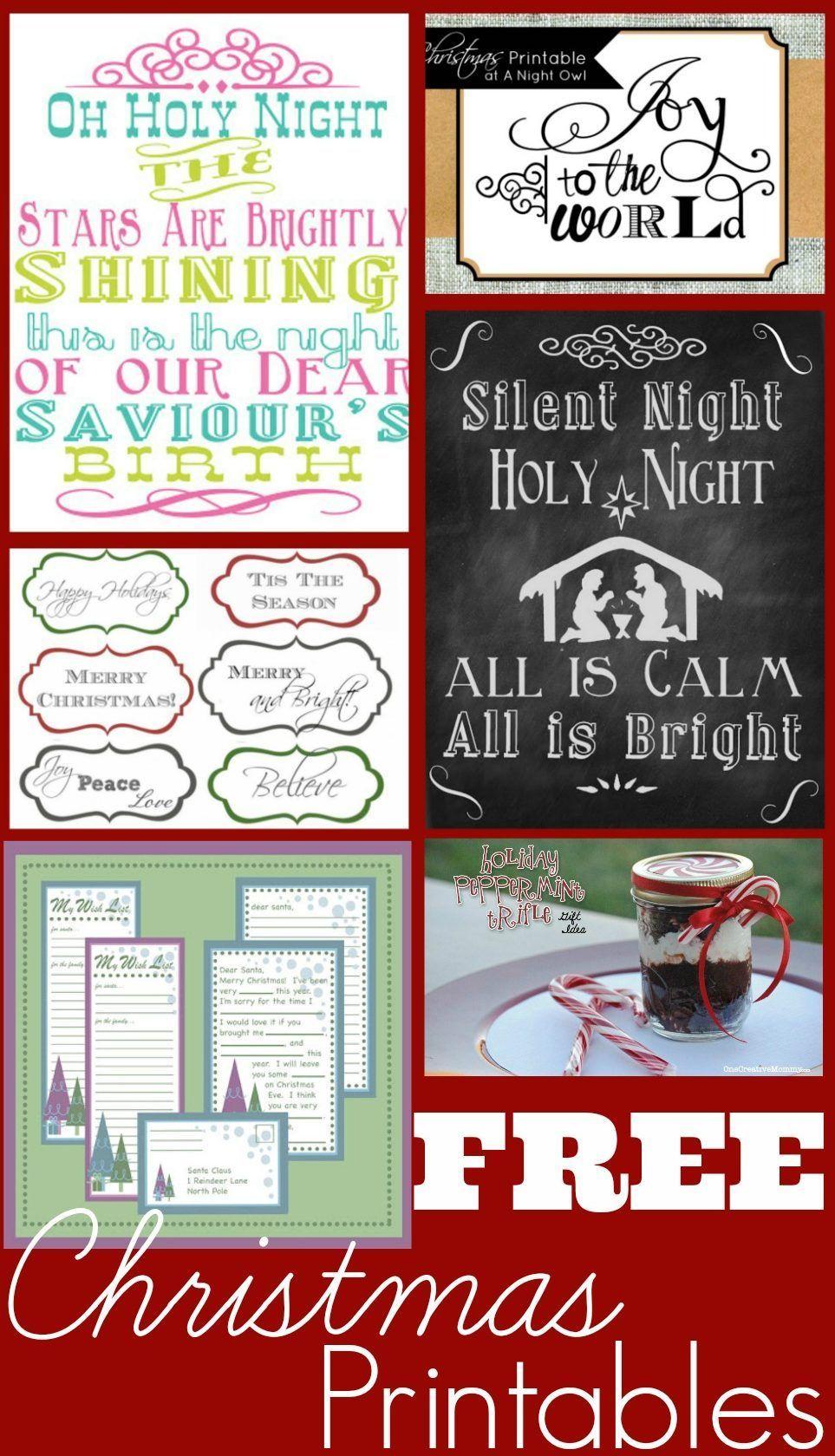 20 Free Christmas Printables In 2020 Free Christmas Printables Christmas Gift Tags Printable Free Christmas
