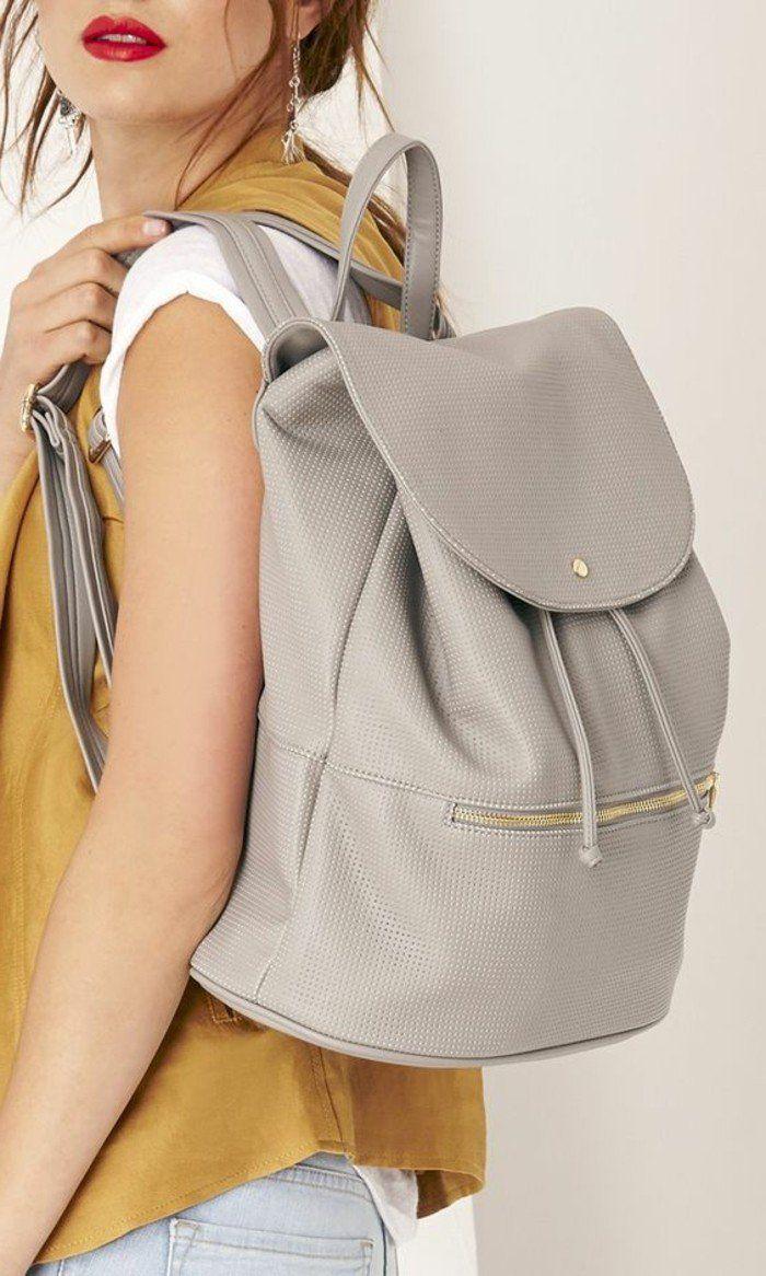 2064b273e6 sac a dos en cuir gris, comment suivre les tendances chez les sacs femme  2016