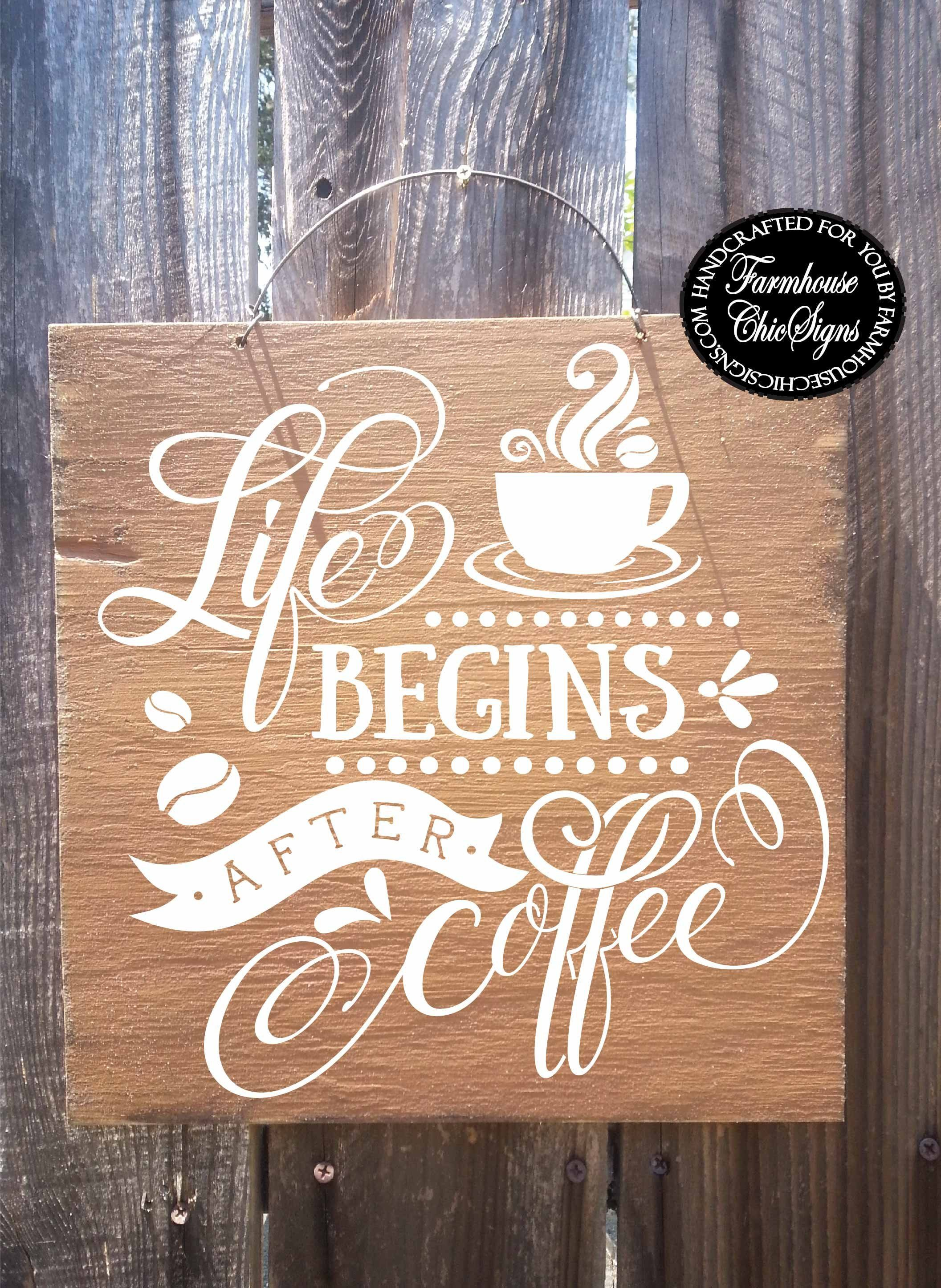 pin coffee bar kitchen sign art decor