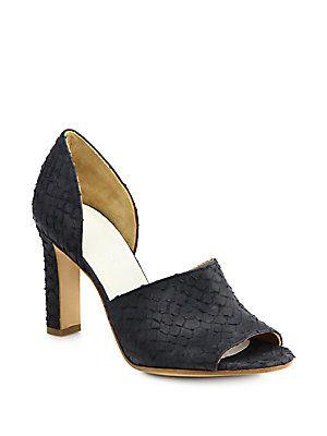 Maison Margiela Fish-Print Leather Sandals