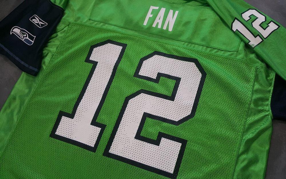 Seattle Seahawks 12 Fan Reebok Jersey Mens Large Green Shirt Nfl Football Wa Seattle Seahawks Green Shirt Nfl Football