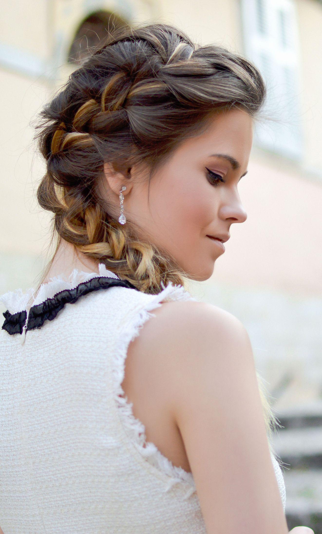 Braided ponytail hairstyles pretty in pinterest hair
