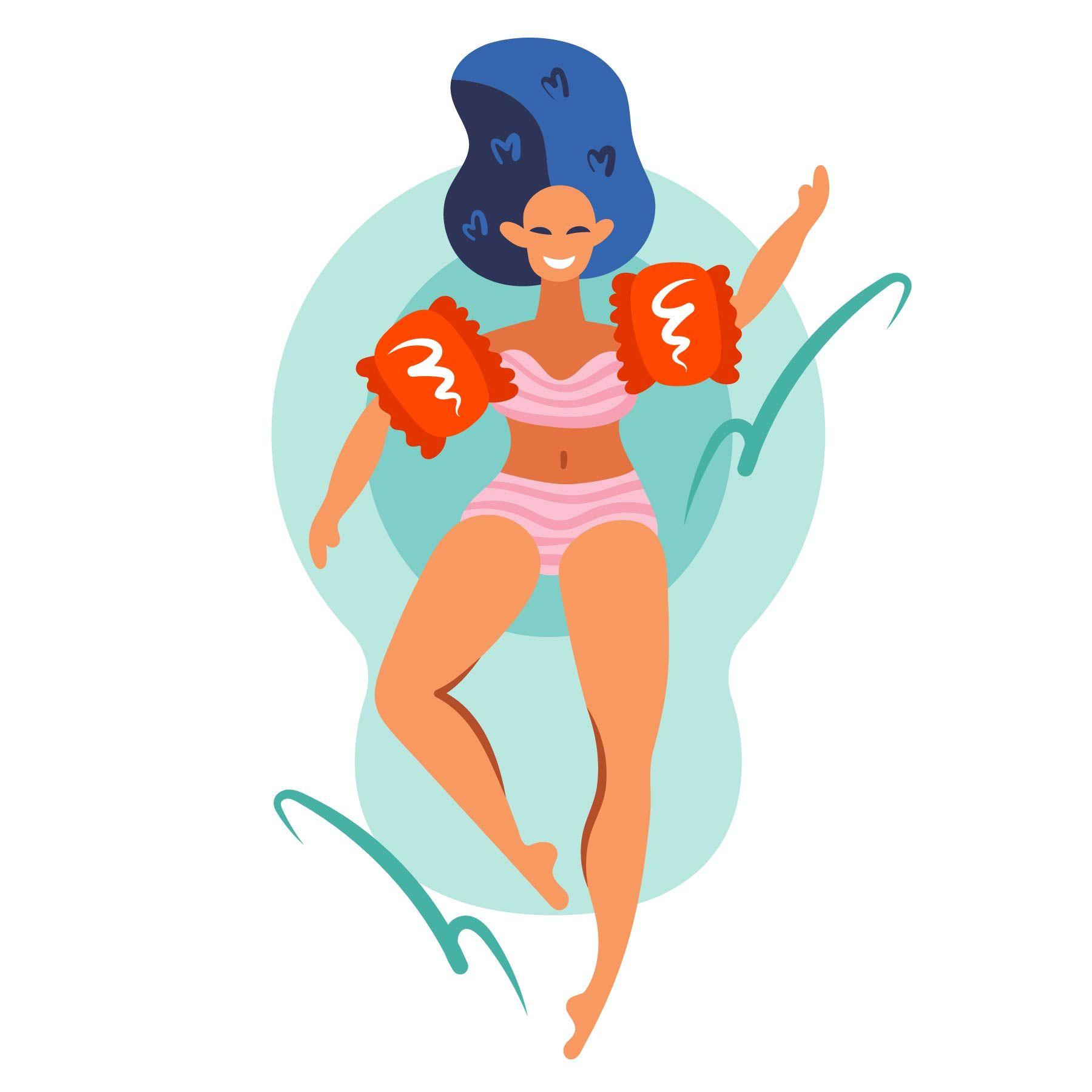 Summer Girls Clipart Digital Prints Hand Drawn Beach Pool Party Flat Vector Printable Girl Clipart Cute Illustration Summer Girls