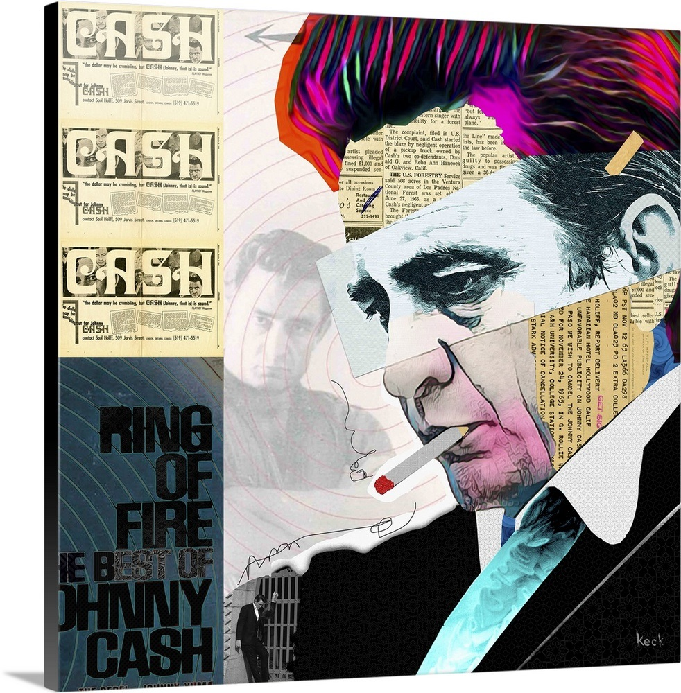 Johnny Cash Wall Art Canvas Prints Framed Prints Wall Peels Great Big Canvas Johnny Cash Art Johnny Cash Abstract Canvas Painting