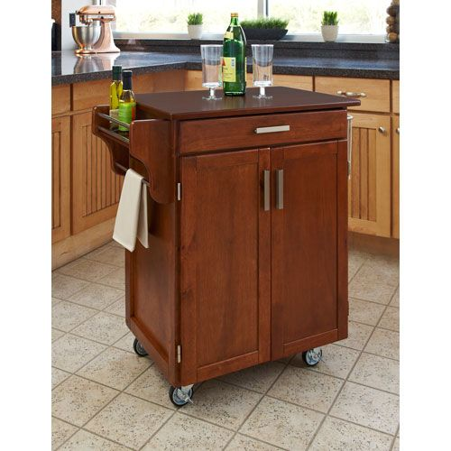 Best Home Styles Furniture Cuisine Cart Warm Oak Finish With 400 x 300
