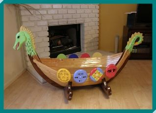 Handmade Wooden Viking Ship Cradle Projects Viking Baby New