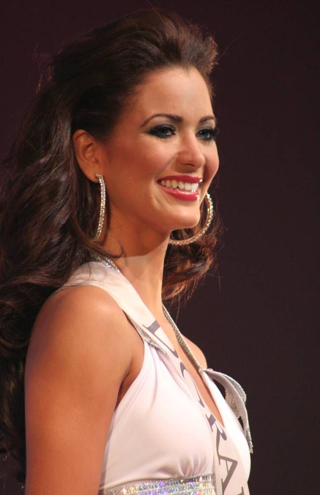 Ingrid Marie Rivera smiles during a beauty pageant in Santurce ...