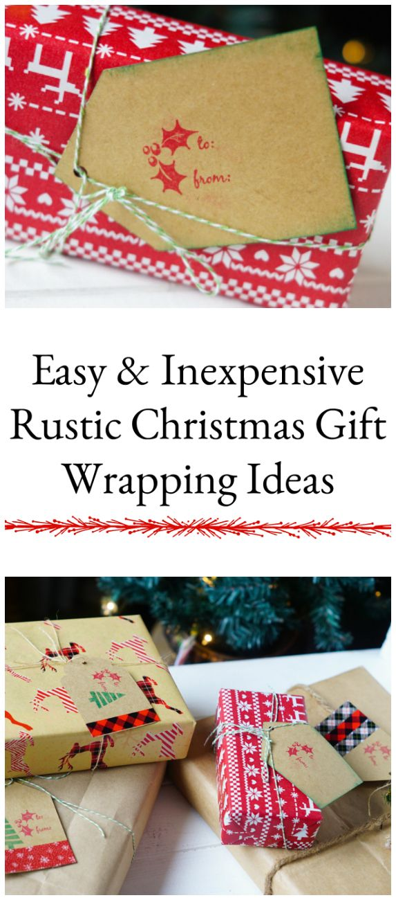 Inexpensive christmas gift wrapping ideas