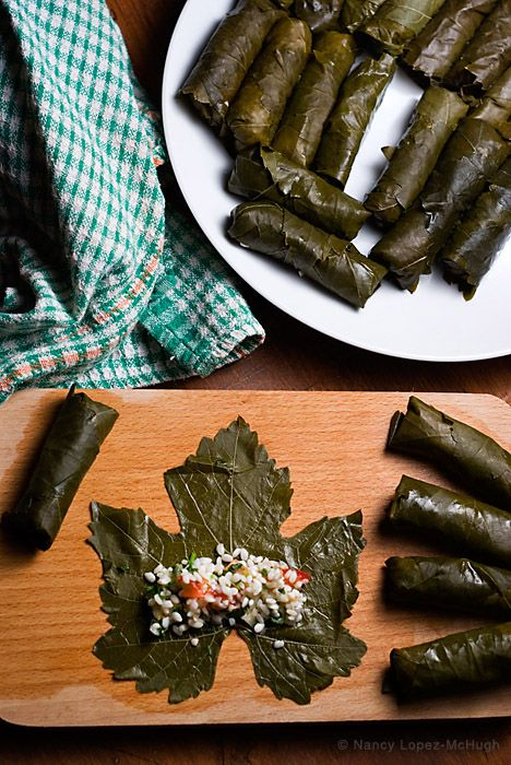 Vegetarian Stuffed Grape Leaves Meze Recipe Stuffed Grape Leaves Grape Leaves Recipe Grape Leaves