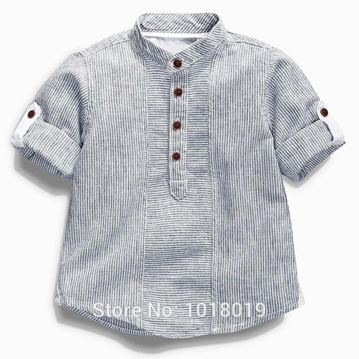 7a43386fb5e Department Name  Children Item Type  Tops Tops Type  Tees Collar  Mandarin  Collar Gender  Boys Pattern Type  Striped Material  Cotton Sleeve  Length(cm)  ...