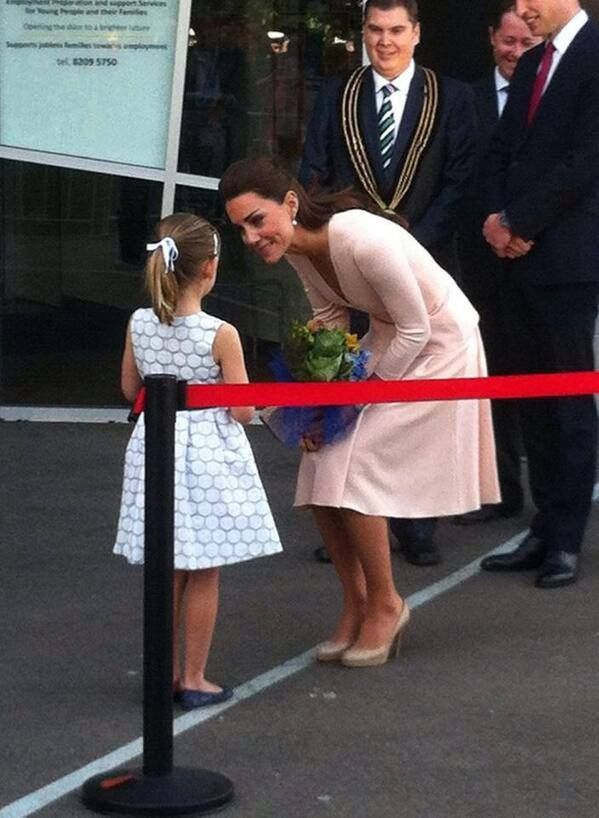Today  here in Elizabeth South Australia..... This was so Heart Touching  and  bought  emotional tears to my  eyes as  Our Duchess lingered way longer than  normal  and spent Precious  moments in  time  with Little Lauren Stephenson ....Lauren had  her wish to meet a Princess granted ... ((( From The Make A Wish Foundation.)))