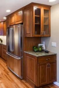 Kitchen Cabinets Around Fridge dfe6226c62de5f4ce135ab91df5fa0c7 (203×300) | kitchen remodel