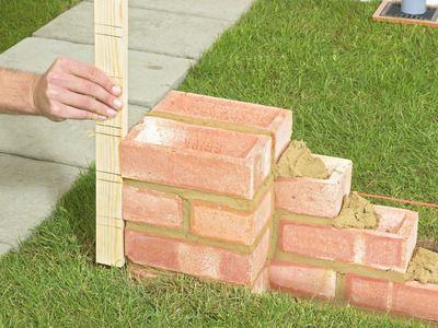 How to Build a Brick Garden Wall   Diy network, Bricks and Gardens